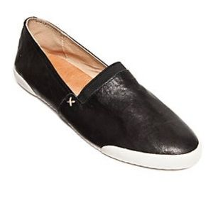 Frye Melanie Black Leather Flats size 11